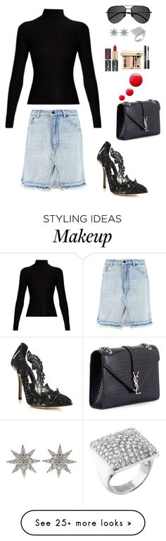 """Untitled #798"" by einatv on Polyvore featuring Yves Saint Laurent, Alexander Wang, Acne Studios, Oscar de la Renta, Topshop, Bee Goddess and Cartier"