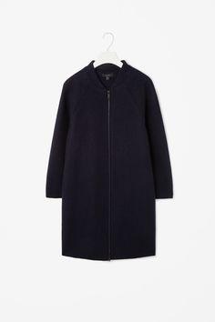 Raw-cut wool coat