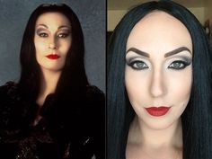 Morticia Addams make up