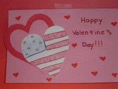 Valentine Card for troops craft - love the American heart
