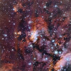 The Prawn Nebula in close-up. Image credit: ESO