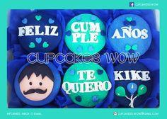 Cupcakes de Cumpleaños para hombre  Dícelo con cupcakes! Personaliza tus cupcakes como más te guste, diseños únicos y divertidos!