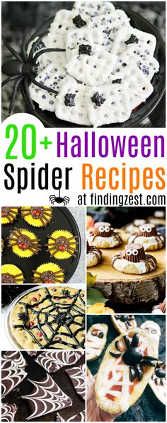 Celebrate the holiday with these deliciously spooky Halloween spider recipes! Over 20 easy Halloween food ideas are shared including spiders and spider webs.