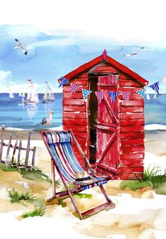 Harrison Ripley - RED BEACH HUT Copy Copy