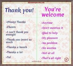 Thanks! You're welcome!