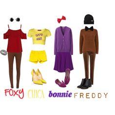 Five nights at freddy's 2 by amclay19 on Polyvore featuring moda, Uniqlo, Monsoon, Boohoo, STELLA McCARTNEY, Salsa, Loro Piana, Kavu, Christian Louboutin and Minna Parikka