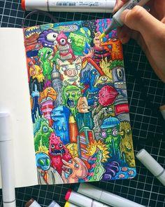 Doodle Art Drawing, Doodle Sketch, Art Drawings Sketches, Vexx Art, Artist Art, Graffiti Doodles, Graffiti Art, Doddle Art, Pop Art Wallpaper