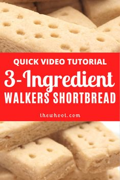 3 Ingredient Copycat Walkers Shortbread Recipe We have the Copycat Walkers Shortbread Recipe and it tastes every bit as good as the original. Are you excited? You only need 3 simple ingredients . Traditional Shortbread Recipe, Easy Shortbread Cookie Recipe, Scottish Shortbread Cookies, Chocolate Chip Shortbread Cookies, Buttery Shortbread Cookies, Shortbread Recipes, Easy Shortbread Recipe 3 Ingredients, Shortbread Cake, Shortbread Biscuits