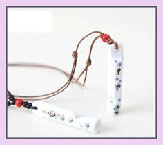 Owl Animal, Owl Pet, Ceramic Necklace, Handmade Ceramic, Chain Pendants, Quartz Watch, Ceramic Art, Gift For Lover, 1 Piece