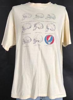 42b8f140 Original 80' RARE Neanderthal Steal Your Face GRATEFUL DEAD Vintage Tee  Shirt XL Grateful Dead