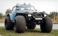 Lada Niva this a 'standard' model. so no hobby or photoshop. this car is for real, ( 1.6 4 cylinder motor...)
