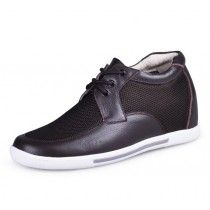Brown men height increase casual shoes grow tall 7cm / 2.75inches