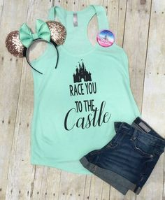 edf4caf0342 Disney Shirt - Race you to the Castle Disney Shirt -Disney Shirts for  Women- Run Disney Shirts - Disney Family Shirts-Matching Disney Shirts