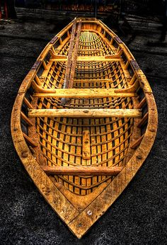 A traditional Irish Currach was originally covered with furs and used in sea or inland waters.