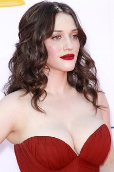kat dennings. red lipstick. Hourglass Opaque Rouge Liquid Lipstick in Icon  http://www.sephora.com/opaque-rouge-liquid-lipstick-P375384