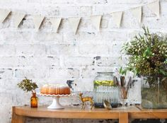 A Pierre Cronje Metro halfmoon table looking fun and festive.  Photography by Henk Hattingh for Crush Magazine.