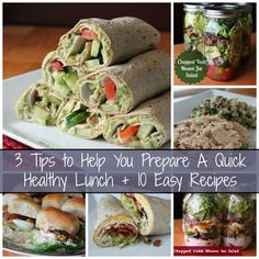 3 Tips to Help You Quickly Prepare a Healthy Lunch + 10 easy weight watcher friendly recipes. yum yum