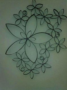 Flores rollo papel