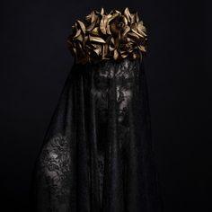 """Black Widow"" — Photographer/Stylist: Martina Nemčeková Photography Headpiece: Paula Model: Silvia Repová Assistant: Martin Fatrdia"