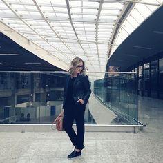 All black pra voar hoje cedo #ootd #airportfashion