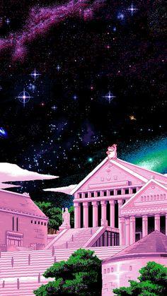 vaporwave bedroom vaporwave on New Retro Wave, Retro Waves, Backgrounds Wallpapers, Cute Wallpapers, Aesthetic Iphone Wallpaper, Aesthetic Wallpapers, Eclectic Wallpaper, Vaporwave Wallpaper, 8 Bit Art