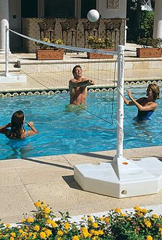 Who wouldn't want a pool volleyball set!