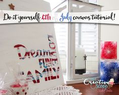 4th of July Canvas tutorial
