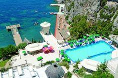 Five star hotel for sale in Kusadasi, Turkey. Five Star Hotel, 5 Star Hotels, Beautiful Hotels, Beautiful Places, Places Around The World, Around The Worlds, Lindt Truffles, Lindt Chocolate, Kusadasi