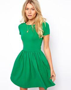 Cute green skater dress