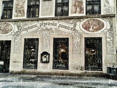 Am nächsten Morgen schneit es in Brno. Eigentlich wollte ich einfach nur ein paar Stunden zu Fuß durch die Altstadt laufen, aber bei dem Schneegestöber ist das kaum möglich. Michail, mit dem ich am Morgen von