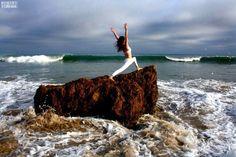 """""""Warrior One, Matador Beach, California"""" by Robert Sturman"""