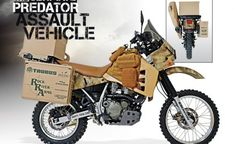 Looking to put the hurt on some predators this year? Check out the custom-built ultimate predator assault vehicle. Motorcycle Equipment, Enduro Motorcycle, Motorcycle Travel, Bmw Motorcycles, Dr 650, Honda, Off Road Bikes, Dual Sport, Motorcycle Accessories