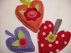 Darling heart sachets