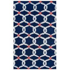 Sailor's Knot Rug from @PoshTots #homedecor #nautical #rug