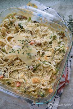 Pasta cremosa con pavo (recalentado reinventado) www.pizcadesabor.com