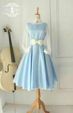 45 ideas for sewing patterns cosplay style Trendy Dresses, Cute Dresses, Beautiful Dresses, Vintage Dresses, Vintage Outfits, Vintage Fashion, Dresses With Sleeves, Kawaii Fashion, Lolita Fashion