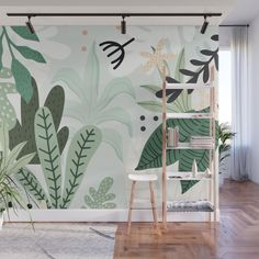 Design your everyday with removable wall murals you'll love. Make a bold statement in your home with artwork from independent artists worldwide. Wall Painting Decor, Mural Wall Art, Wall Decor, Room Decor, Bathroom Mural, Bedroom Murals, Bedroom Wall, Deco Design, Wall Design