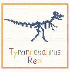 Tyrannosaurus Rex - cross stitch pattern designed by Marv Schier. Category: Small.