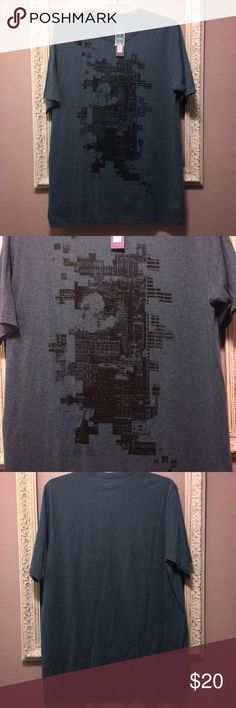 NWT Men's Apt. 9 Graphic Tee - XL Tall Brand new with tags. Men's Apt 9 graphic tee. Size XL tall. Teal with black digital front graphic. Smoke free home. No rips, holes or stains. See picture for material content. Retail $30 Apt. 9 Shirts Tees - Short Sleeve