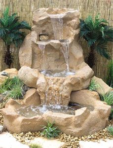 More Than 44 Unordinary Zen Water Fountain Ideas For Garden Landscaping ! Unordinary Zen Water Fountain Ideas For Garden Landscaping ! Outside Fountains, Large Outdoor Fountains, Backyard Water Fountains, Diy Water Fountain, Garden Water Fountains, Waterfall Fountain, Fountain Ideas, Diy Water Feature, Backyard Water Feature