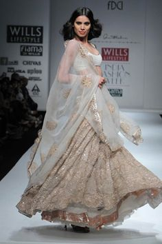 White & Gold Lengha By Anand Kabra#Repin By:Pinterest++ for iPad#