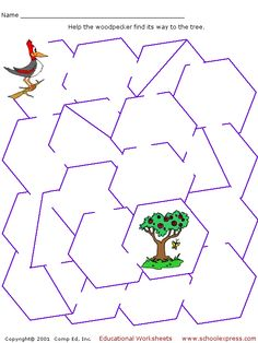 Easy mazes for very young children.