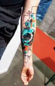 Seit vier Jahren bereist der griechische Tattoo-Artist Dynoz die ganze Welt als. For four years, the Greek tattoo artist Dynoz has traveled the world as a guest tattoo artist. Hand Tattoos, Neue Tattoos, Forearm Tattoos, Body Art Tattoos, Sleeve Tattoos, Tatoos, Tattoo Arm, Rib Tattoos, Quote Tattoos