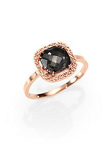 KALAN by Suzanne Kalan - Black Night Topaz and 14K Rose Gold Ring