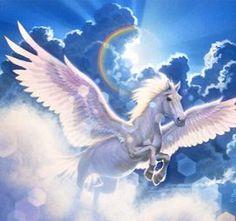 Pegasus (Greek Pegasos, Latin Pegasus) is one of the best known fantastical as well as mythological creatures in Greek mythology. Unicorn And Fairies, Unicorn Fantasy, Unicorn Art, Unicorn Wings, Magical Creatures, Fantasy Creatures, Pegasus, Fantasy World, Fantasy Art