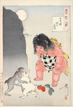 金時山の月(『月百姿』シリーズ/画・月岡芳年)の拡大画像