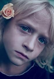 This little girl looks so sad. But it is still quite beautiful. And I don't normally say that about kids