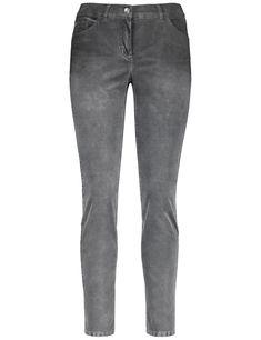 Damen GERRY WEBER Hose Freizeit lang Jeans mit Bleach Effekten    04058424942907 - Kategorie  Damen 4baf5db546