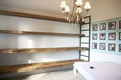 how to build shelving from reclaimed wood | the handmade home
