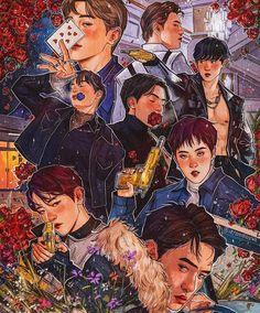 Wall paper kpop exo fanart 33 ideas for 2019 Kpop Exo, Exo Kokobop, Exo Kai, Suho, Kpop Fanart, Shinee, Jonghyun, Chibi, Day6 Sungjin
